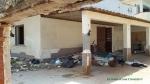 Esterno villa confiscata in Sicilia, dettaglio danni un anno dopo