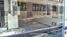 L'Aquila, città - Ufficio postale detriti