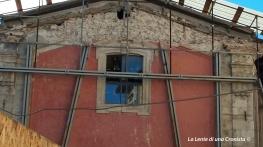 L'Aquila, post terremoto. Palazzi puntellati