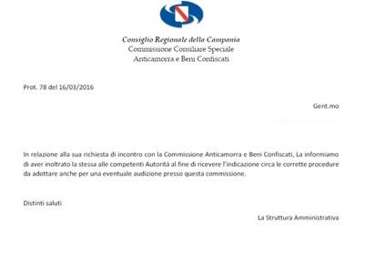 Documento Commissione Anticamorra e Beni Confiscati