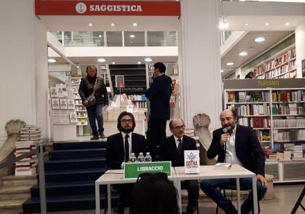 Da sinistra Claudio Cordova, Federico Cafiero de Raho, Marco Lillo